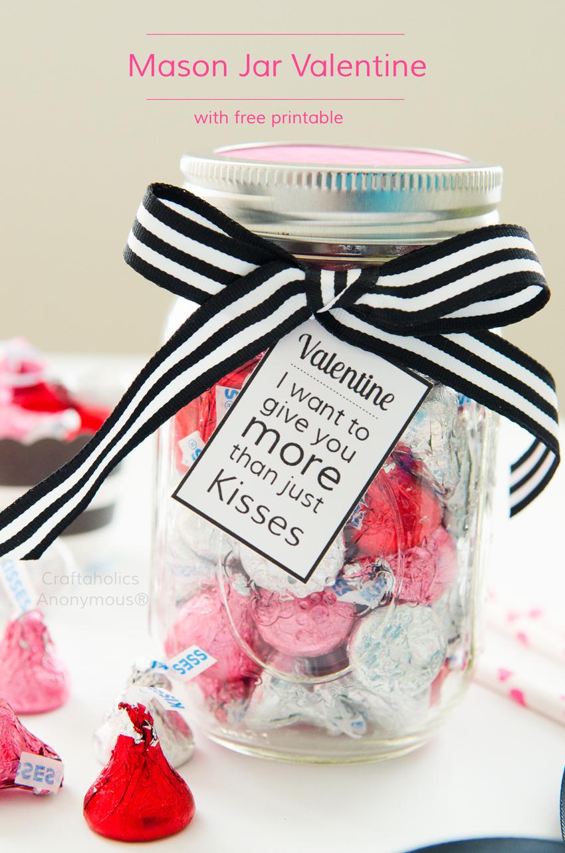 15+ Mason Jar Crafts for Valentines day
